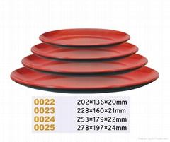 美耐皿(仿瓷)双色餐盘