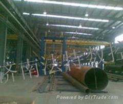 鋼管合縫焊接生產線
