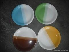 """Stoneware 10.5"""" ocean glaze dinner plate"""