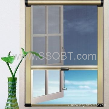 Retractable door screens g210 ssobt china for Pull down retractable screen door