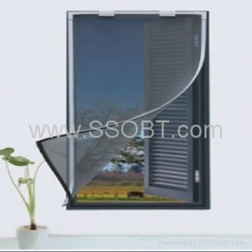 Magnetic insect screen for windows g215 ssobt china for Window insect screen