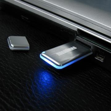 mini metal USB flash drive with Led light flash  1