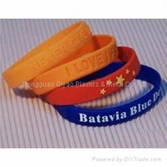 fashion silicone bracelets