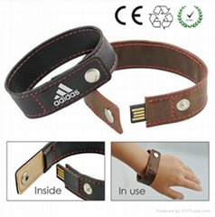 leather PU bracelet USB flash drive custom usb memory sticks