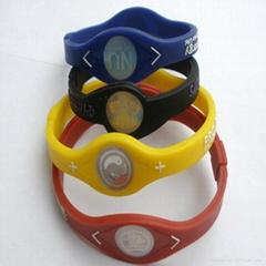Fashion design energy silicone bracelet 2011 hot sell