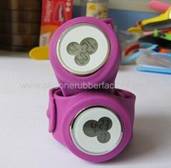 Quartz silicone slap watches
