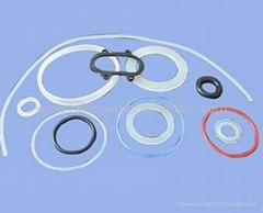 Colored silicone rubber o-ring seals