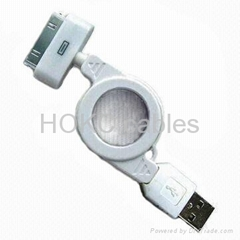 Apple iPod connector to USB Retractable Cable