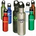 stainless steel single wall water bottle