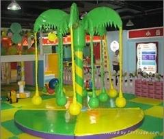 供應銷售椰子樹電動淘氣堡-溫州卓爾德遊樂設備有限公司