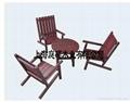 刻紋木傢具休閑桌椅(四件套)