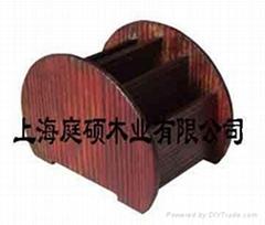 防腐木家具笔筒
