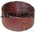 刻紋木傢具煙灰缸
