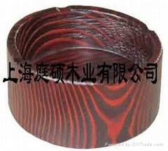 刻纹木家具烟灰缸