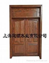 刻纹木家具别墅进户门