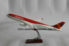 批發供應航空模型A330哥倫比亞航空模型飛機模型38cm