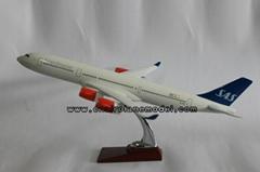 批發供應航空模型A340北歐航空模型飛機模型32cm