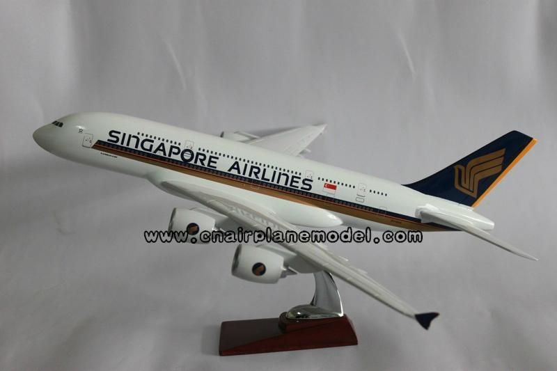 批發供應航空模型a380新加坡航空模型飛機模型47cm 博藝 中國 生產商 模型玩具 玩具 產品