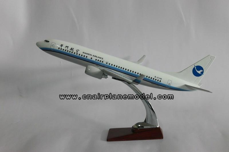 批发供应航空模型b737-800厦门航空飞机模型47cm 1