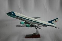 Resin airplane modelB747