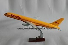 批發供應飛機模型B757DHL運敦豪航空模型46cm