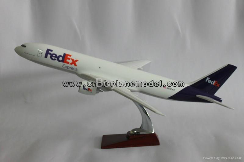 树脂航空飞机模型波音b777-200联邦快递47cm 1