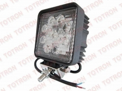 4inch 27W 9-32V Square LED Work Light