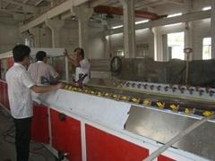 PE wood plastic products making machine