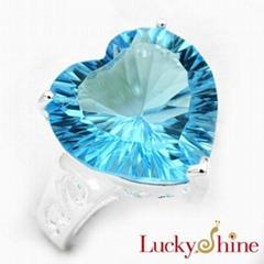 天空蓝晶石戒指