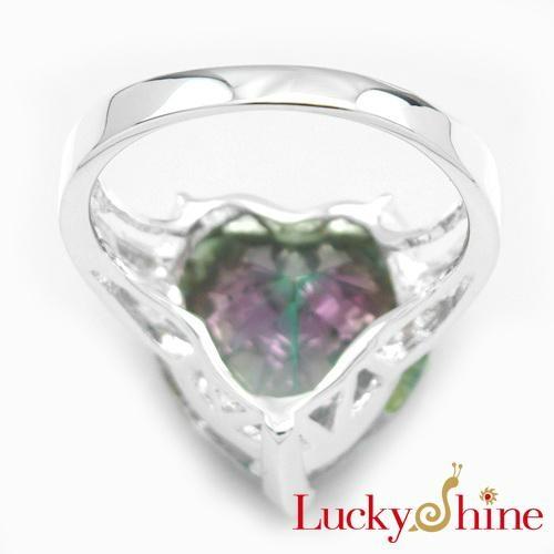 白水晶七彩虹石戒指 2