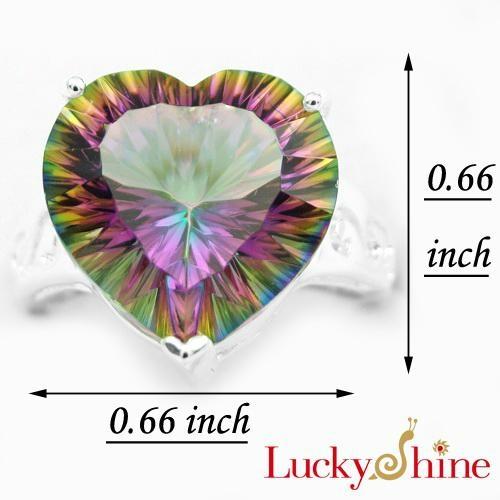 白水晶七彩虹石戒指 4