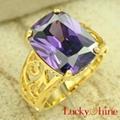 紫蓝石锆石戒指