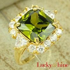 橄榄石戒指