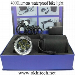 LED bike light set CREE 4000LM