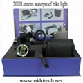 LED bicycle light set 3000LM rechargeable 3