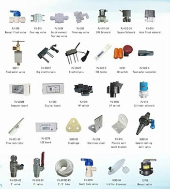 The Spare Parts Of Domestic Ro Water Purifier Pj 001