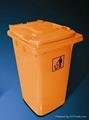 户外塑料大容量垃圾桶模具