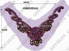 Beaded neckline trims