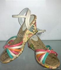 Color high heel sandal