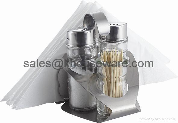 Salt,Pepper,Napkin Holder & Toothpick Holder Set 1