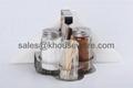 Salt,Pepper,Napkin Holder & Toothpick Holder Set 3