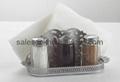 Salt,Pepper,Napkin Holder & Toothpick Holder Set 4