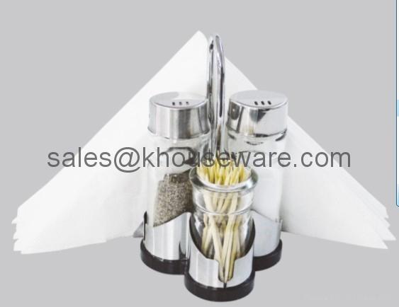 Salt,Pepper,Napkin Holder & Toothpick Holder Set 5