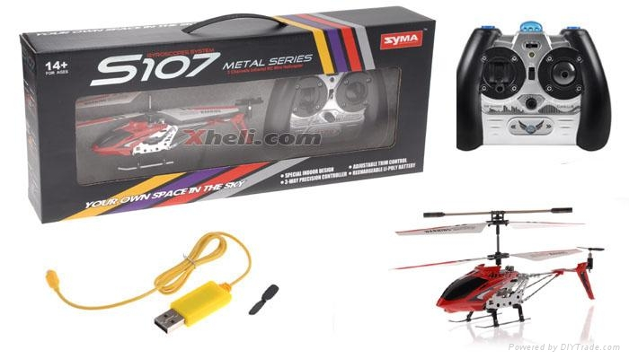 Toy helicopter S107 3ch helicopter with gyro & usb charger