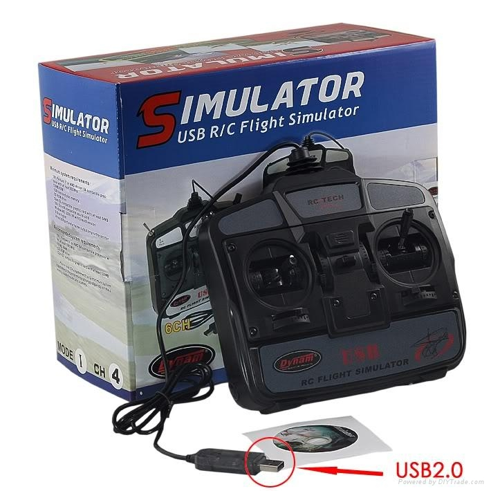 RC 4CH Helicopter Transmitter FMS USB Flight Simulator