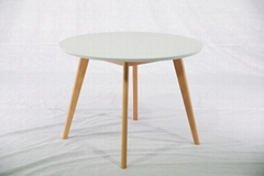Beech Round Solid Wood Dining Table