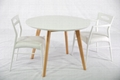 beech dining room furniture | Beech Round Solid Wood Dining Table - DT-1005 - Modern ...