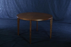 Walnut Round Solid Wood Dining Table