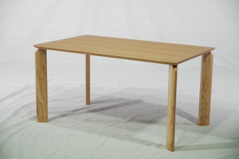 ASH Solid Wood Dining Table - DT-1011 - MODERN FURNITURE (China