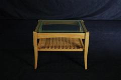 榉木 实木玻璃茶几 实木家具